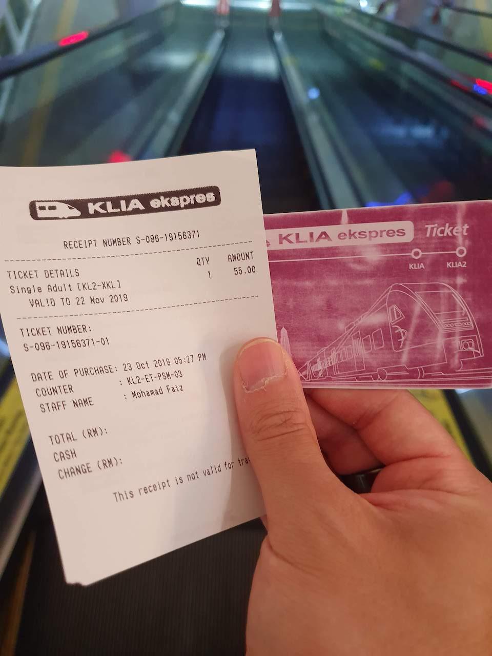 KLIA ekspress ticket