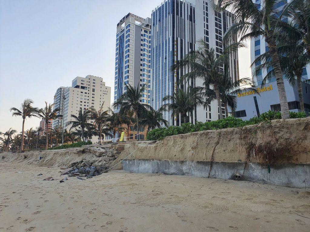 Da Nang January 2021 Beach after rainy season