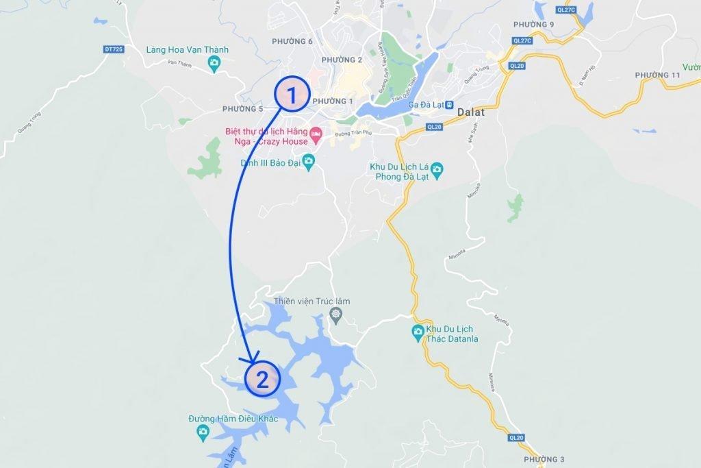 Da lat map area